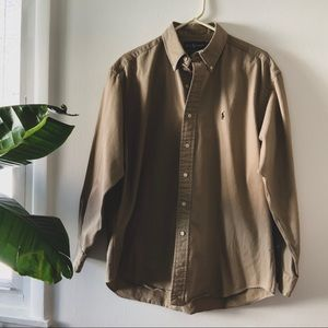 ✨ NWT Tan Ralph Lauren Blake Large Button down